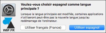 tutoriel Mac macOS changer langue systeme