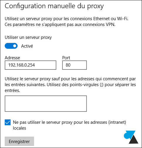 tutoriel activer configurer proxy internet Windows 10