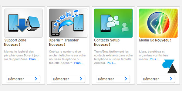 tutoriel telephone smartphone tablette Sony Xperia PC Companion Windows