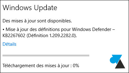 tutoriel Windows 10 acces Parametres Windows Up)date mise a jour