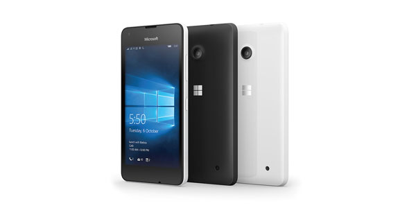 photo smartphone Microsoft Lumia 550 Windows 10 Mobile Nokia