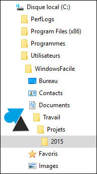 tutoriel Windows 10 Developper dossier ouvert actif