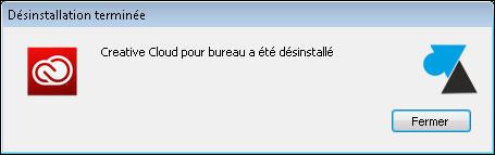 tutoriel Adobe Creative Cloud desinstaller
