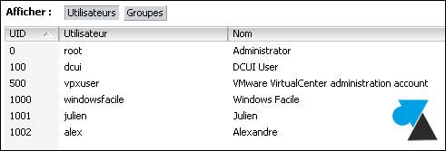 tutoriel VMware vSphere ESXi configurer comptes utilisateur groupe