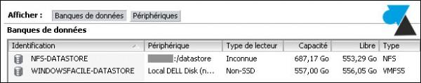 tutoriel VMware vSphere ESXi configurer stockage disque dur SAN NAS DAS NFS