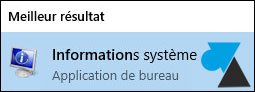 tutoriel Windows 10 Famille informations syteme