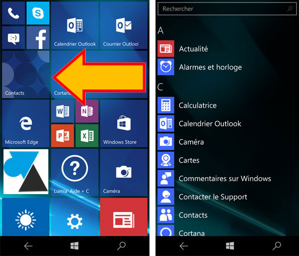 tutoriel Lumia smartphone Windows 10 Mobile