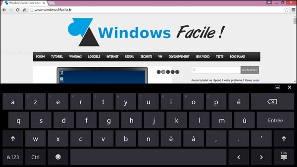 Activer le clavier virtuel de windows for Raccourci clavier changer de fenetre