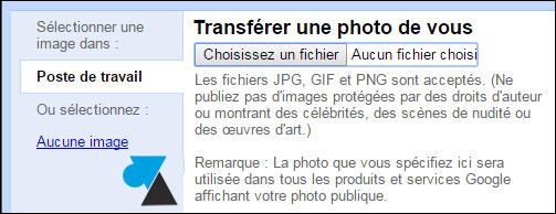tutoriel avatar image photo profil Gmail