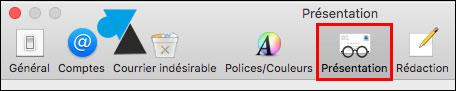 tutoriel logiciel Mail Mac Apple iMac Macbook présentation affichage messages