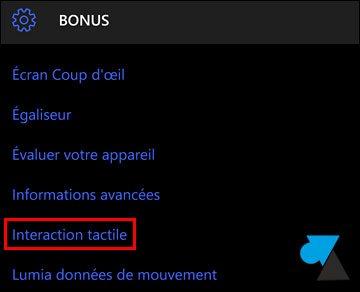 tutoriel tactile smartphone Windows 10 Mobile