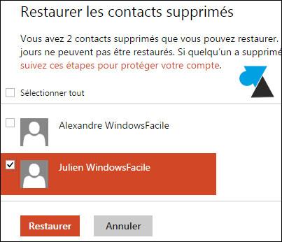 tutoriel webmail Outlook restaurer recuperer contact sauvegarde repertoire carnet adresse