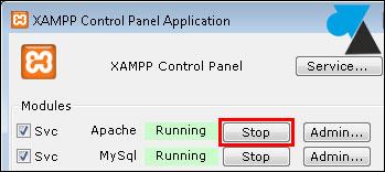 XAMPP Apache restart stop start service