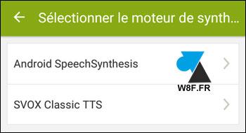 Endomondo moteur synthese vocal SVOX Google Android SpeechSynthesis