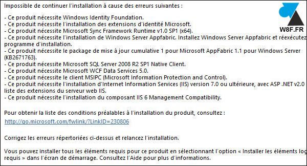 sharepoint 2013 prerequis