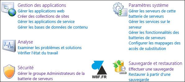 tutoriel admin administration SharePoint Server