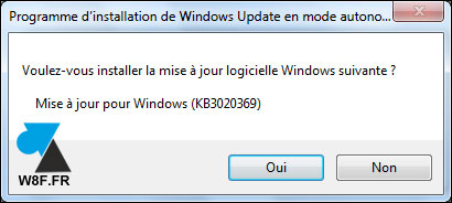 tutoriel installation Windows 7 Service Pack 2 W7 SP2 rollup KB3020369