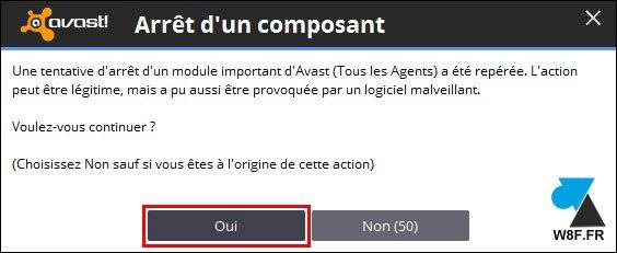 tutoriel désactiver antivirus Avast