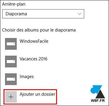 tutoriel Windows 10 changer photo écran verrouillage diaporama