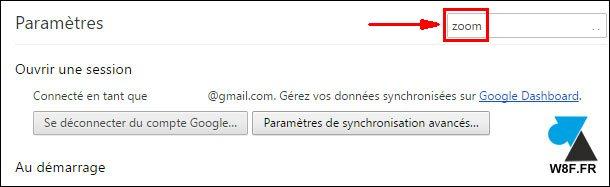 tutoriel navigateur Google Chrome parametres zoom