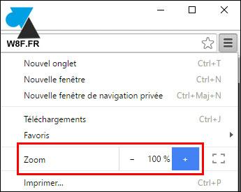 tutoriel Google Chrome zoom page site internet