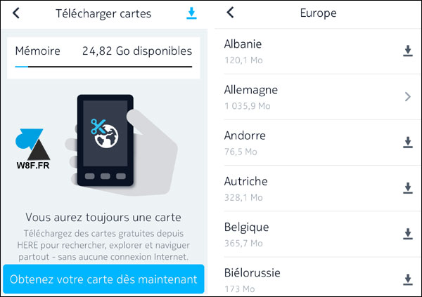 tutoriel application GPS gratuite iPhone Nokia Here Maps