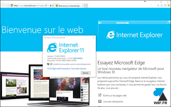 tutoriel Windows 10 W10 IE IE11 Internet Explorer