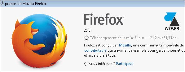 tutoriel navigateur Mozilla Firefox mise a jour update
