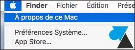 OSX macOS A propos de ce Mac About