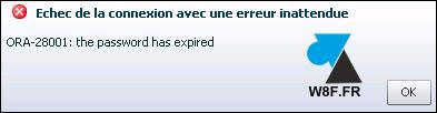tutoriel Oracle 12c ORA-28001 the password has expired