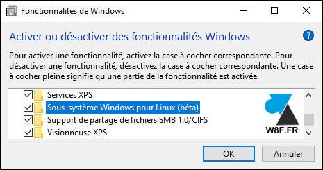 tutoriel Windows 10 installer Bash Linux Unix Ubuntu GNU shell