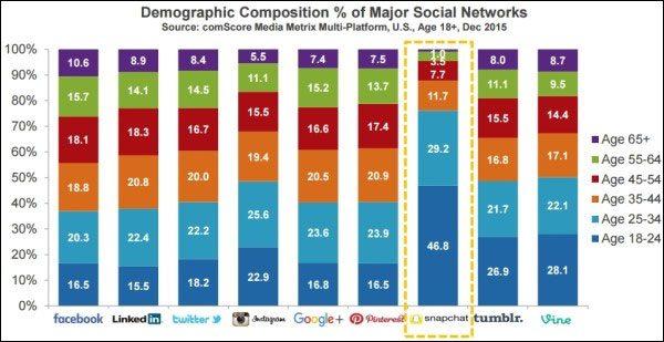 part de marché réseaux sociaux internet 2016