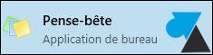 pense bete note post it Windows 10