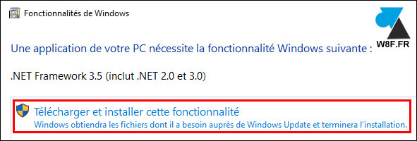 tutoriel installer gratuit NET Framework Windows 10