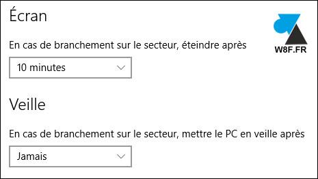 tutoriel Windows 10 paramètres mise en veille PC fixe ordinateur de bureau desktop