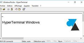 WF HyperTerminal Windows XP 7 10