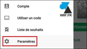 tutoriel Android Google Play Store Paramètres