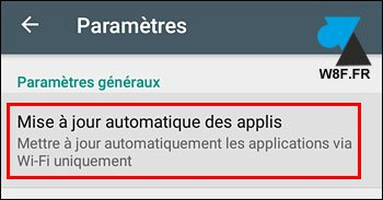 tutoriel Android application Play Store mise a jour automatique