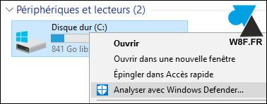 tutoriel Windows 10 Defender analyse antivirus
