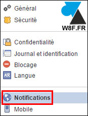tutoriel Facebook notification mail