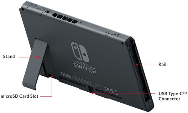 Nintendo Switch config spec