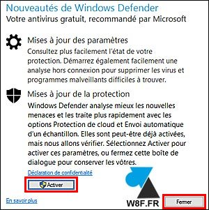 WF Windows Defender Windows 10 tutoriel