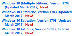 ISO MSDN VL Windows 10 Creators Update 1703