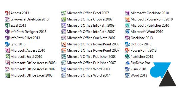 pack Microsoft Office Windows 10