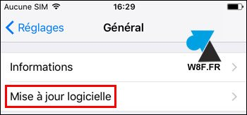 tutoriel Apple iPhone iPad version systeme