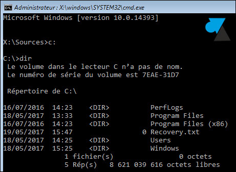 tutoriel reset mot de passe Windows