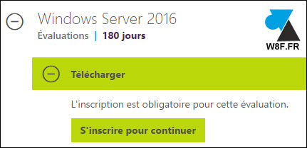telecharger ISO gratuit Windows Server 2016 WS2016 WS16