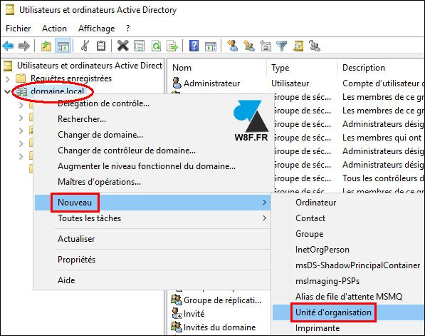 Windows server 2016 cr er un domaine active directory for Entreprise facile a creer