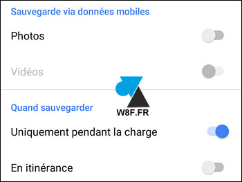 tutoriel sauvegarde automatique photo Android Google Photos