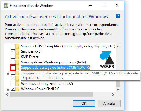 partage smb Windows